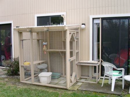 Figure 8: Constructed Off Back Patio With Screen Door Opening To Kennel