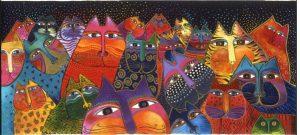 """Rainbow Cats"", Laurel Burch"